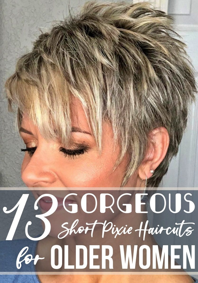 5 Gorgeous Short Pixie Haircuts for Older Women